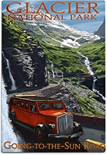 product image for Lantern Press Glacier National Park, Montana, Going-to-The-Sun Road (12x18 Aluminum Wall Sign, Wall Decor Ready to Hang)