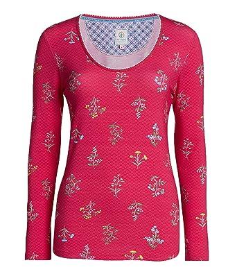 d820951c599329 PiP Studio Damen Pyjama-Oberteil Trixy Winter Wonderland Langarm pink (71)  M: Amazon.de: Bekleidung