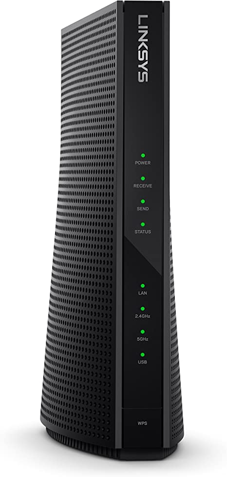 Amazon Com Linksys High Speed Docsis 3 0 24x8 Ac1900 Cable Modem Router Certified For Xfinity By Comcast And Spectrum By Charter Cg7500 Computers Accessories