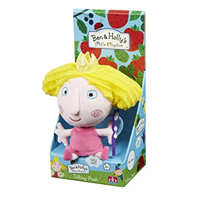 Character Options Ben & Holly's Little Kingdom 18cm Talking Holly Soft Plush Toy: Toys & Games