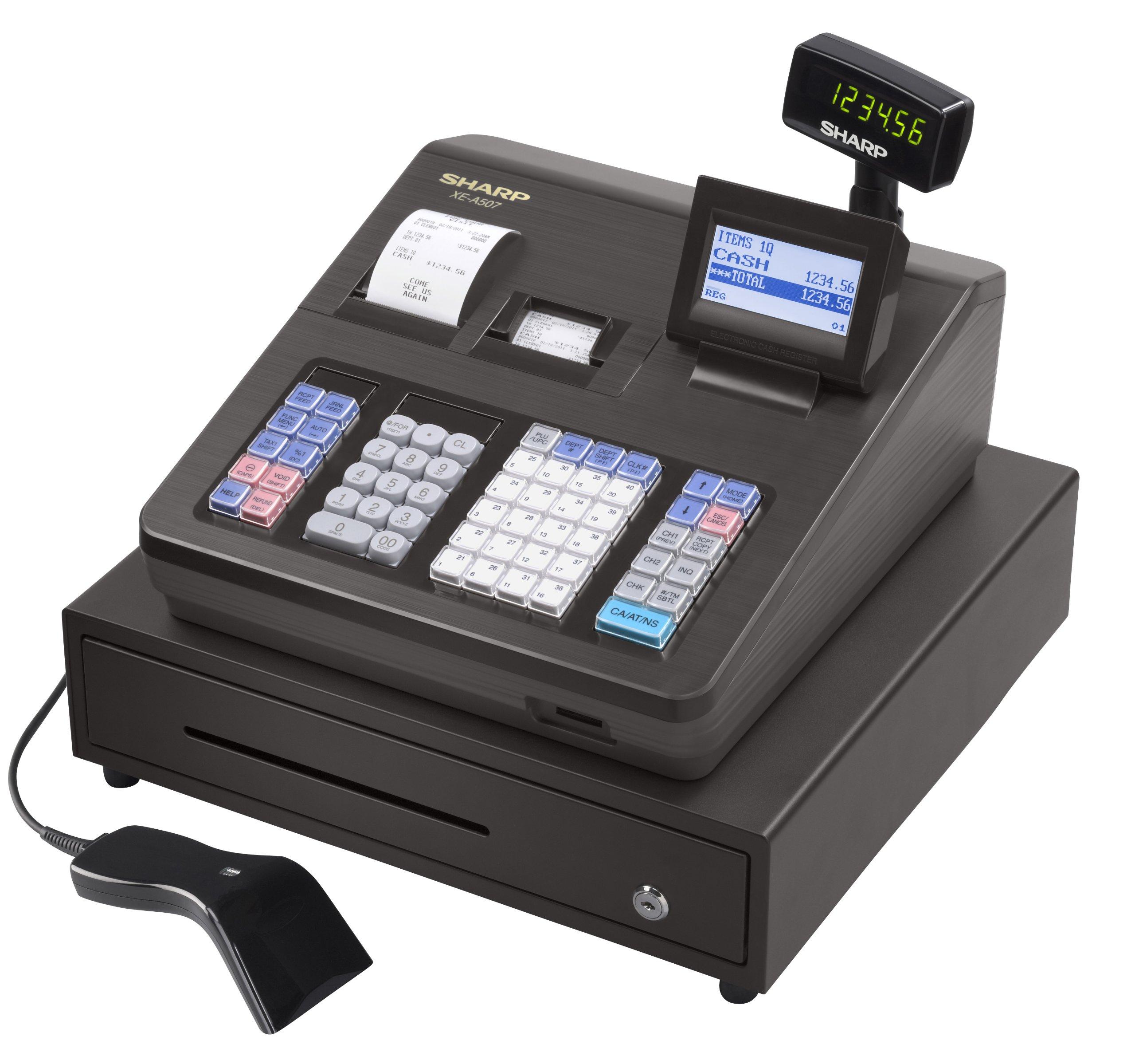 Sharp XEA507 Bar Code Scanning and Dual Receipt Cash Register