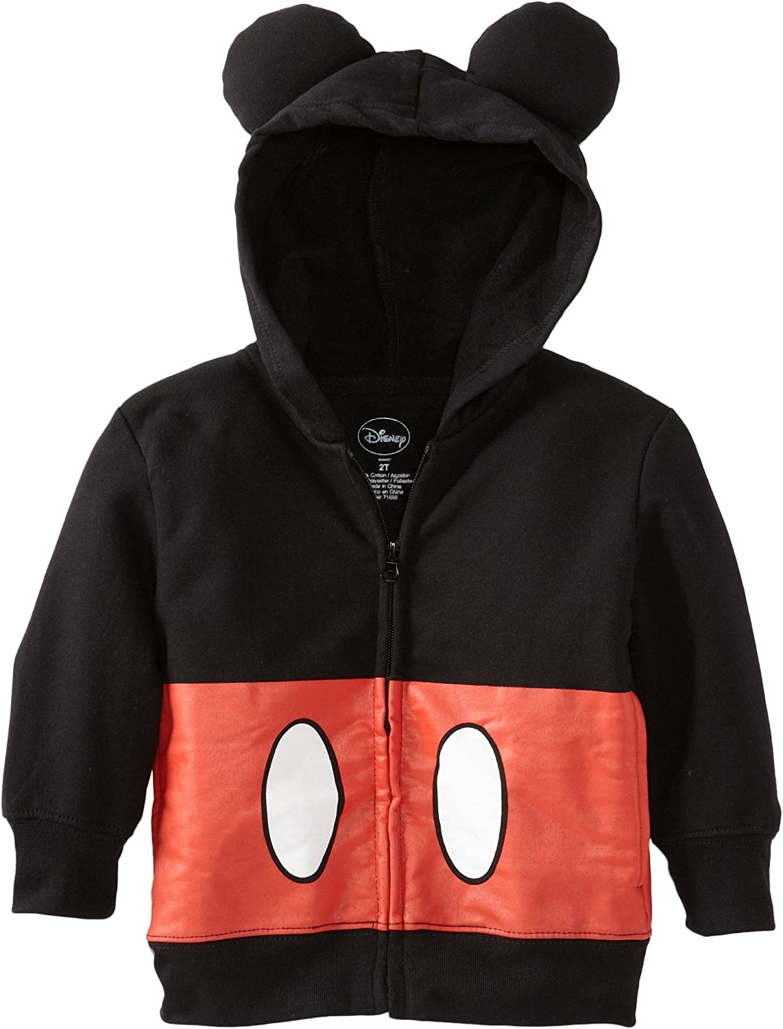 Disney Boys' Toddler Mickey Mouse Hoodie: Clothing