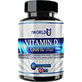 Vitamin D3 1000IU 365 Softgels Rapid Absorption Vitamin D for Maintaining Normal Bones and Teeth, Muscle Function and Immune System. Made in The UK. Non-GMO. Gluten and Dairy Free.
