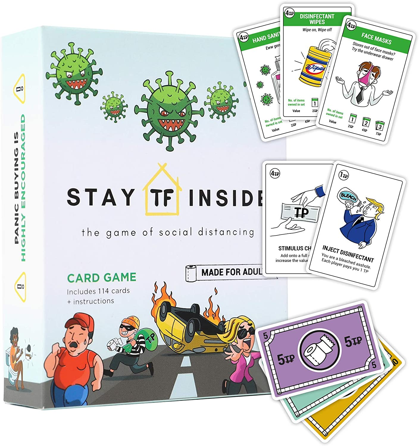 Stay TF Inside The Ultimate Card Game - Perfect for Small Gatherings & Social Distancing - Fast Paced Gameplay to Remember The Year 2020