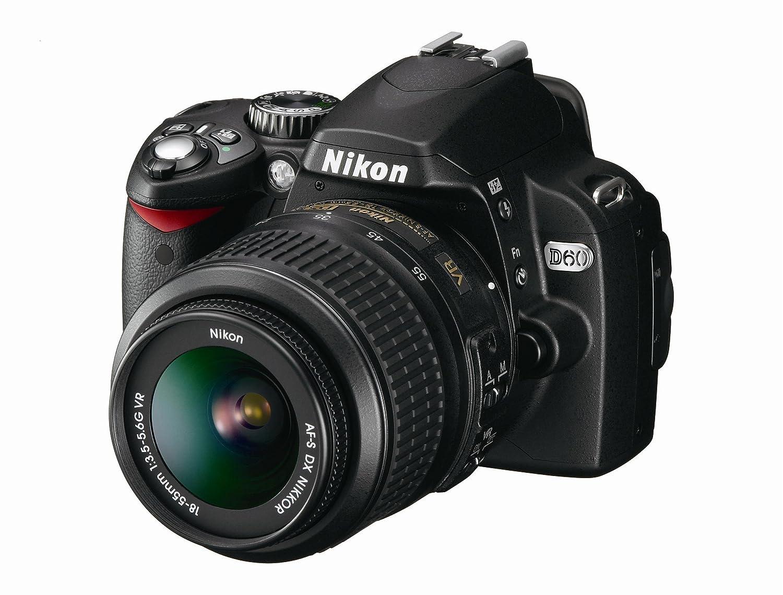 Amazon.com: Nikon D60 10,2 MP Digital SLR Cámara con 18 – 55 ...