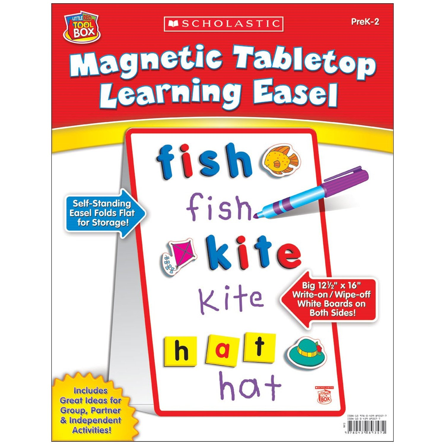 Little Red Tool Box: Magnetic Tabletop Learning Easel