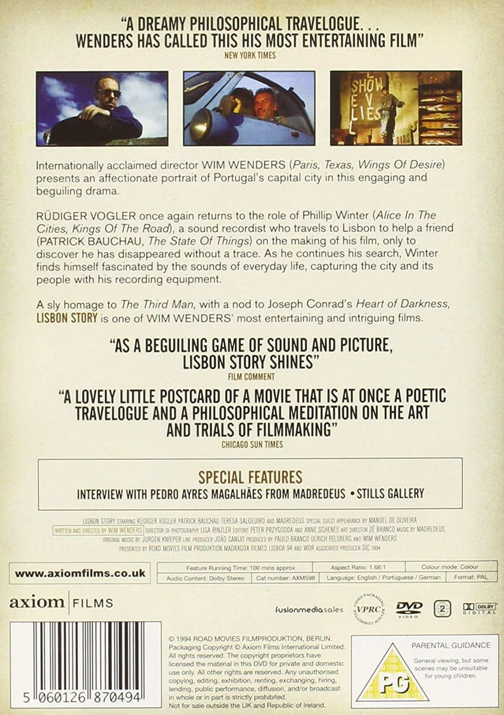 Lisbon Story [DVD] [1994]: Amazon.co.uk: Rudiger Vogler, Patrick ...