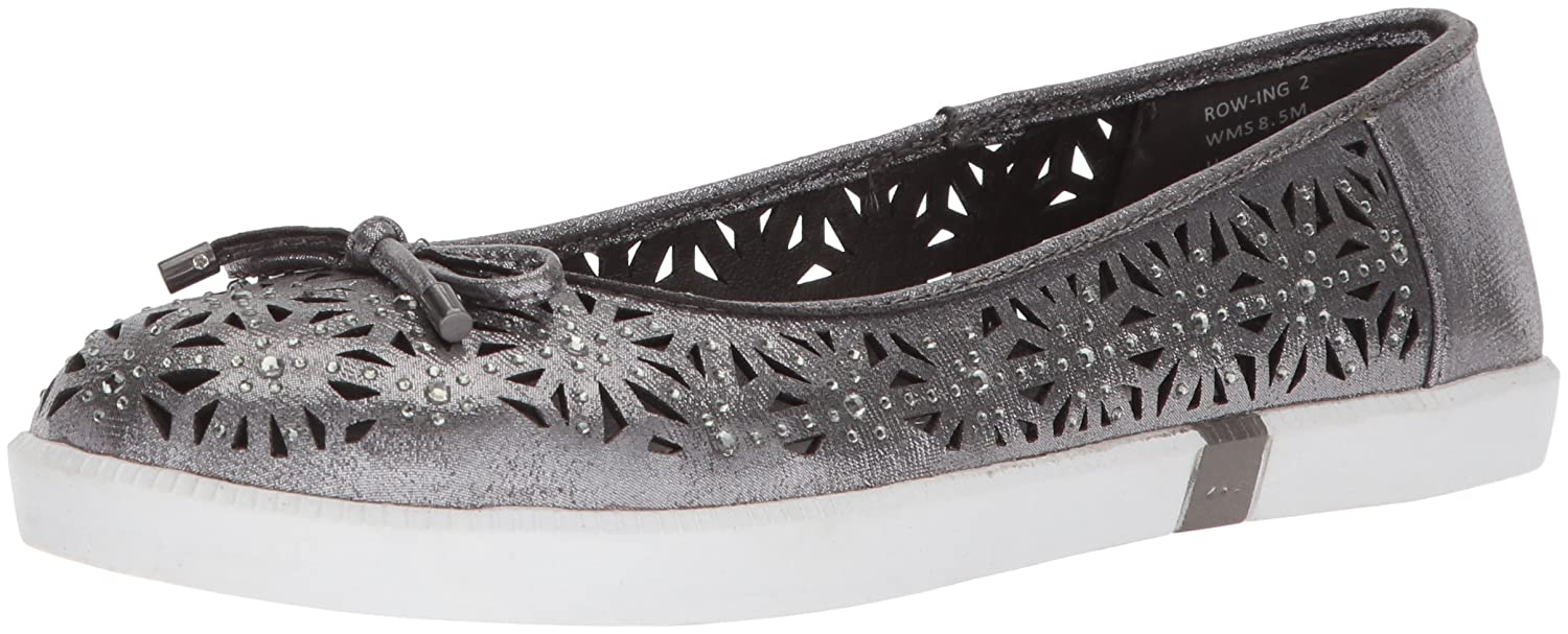 Kenneth Cole REACTION Women's Row-Ing 2 Slip on Skimmer Bow Detail Ballet Flat B077MBSJ1V 6.5 B(M) US|Pewter
