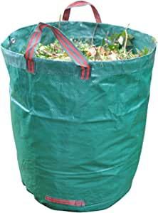 GardenTastico® | Saco de jardín con Capacidad de almacenaje de hasta 272L y Fuerza de 150g/m² | Extremadamente hidrófugo y Resistente al desgarro - Apropiado para jardín y Exteriores: Amazon.es: Jardín