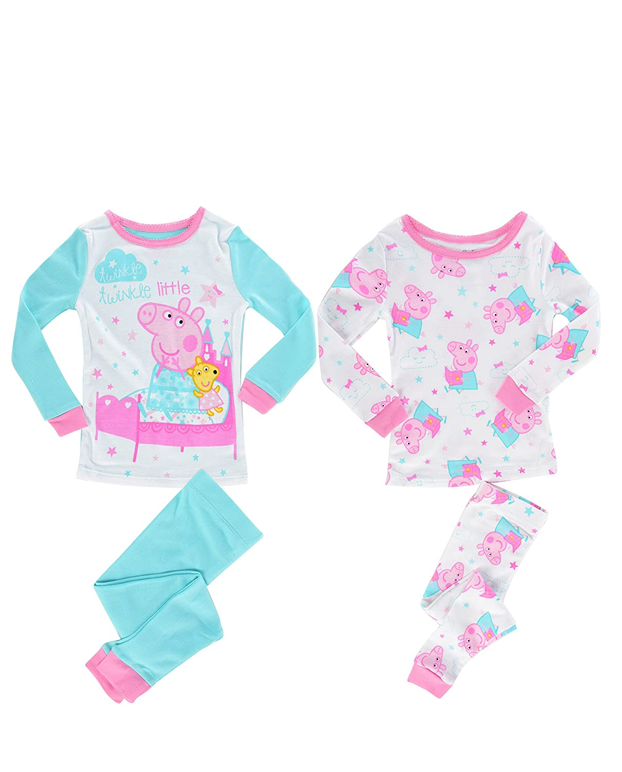 Peppa Pig Girls Toddler Girls Twinkle Twinkle Little Star 4 Piece Cotton Set Multi 2T K183184PP