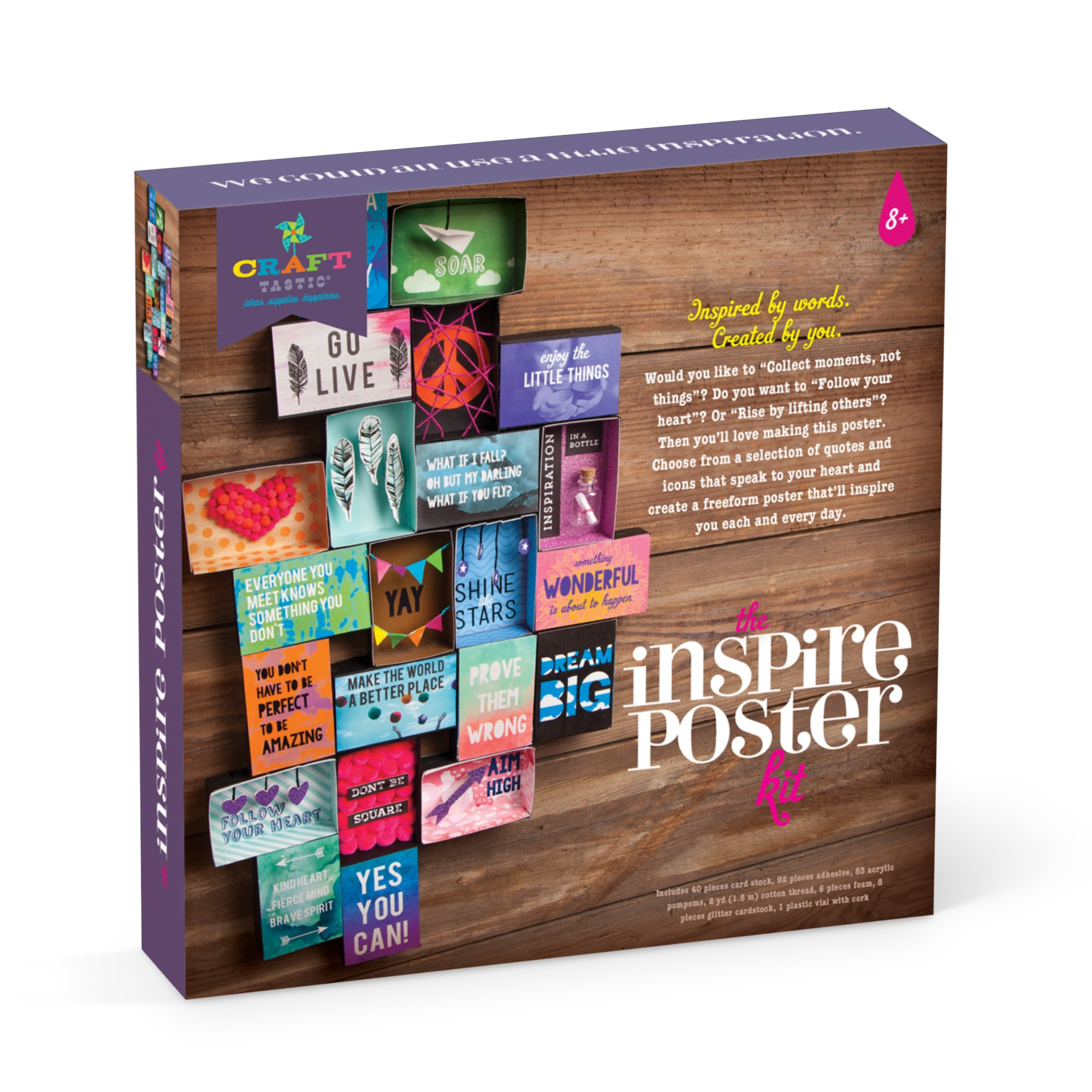 Craft-tastic Inspire Poster Kit Craft Design and Build Your Own 3D
