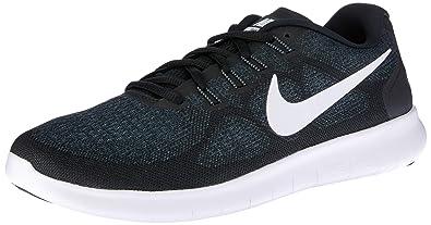 1817e29be8a14f Nike Women s Free RN 2 Running Shoe Black White Dark Grey Anthracite 5