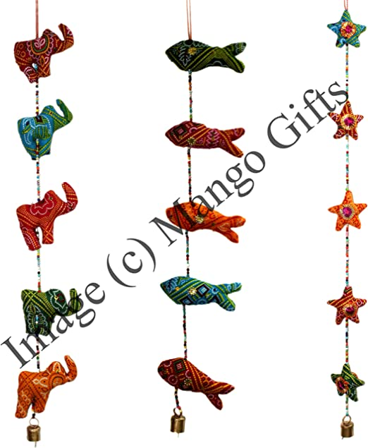 Handmade Traditional Hanging Star Moon Mobile String Decoration Ornaments Indian