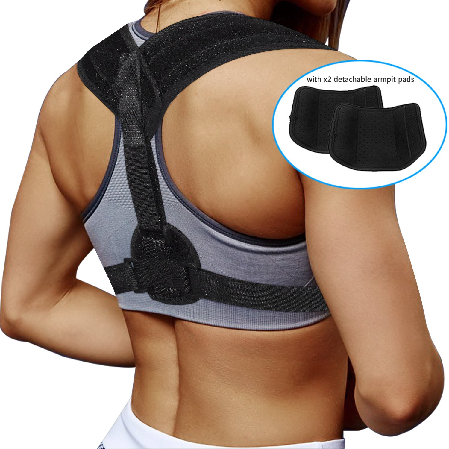Upgrade Posture Corrector Trainer, Physical Therapy Posture Brace for Men Or Women - Back, Shoulder, and Neck Pain Relief