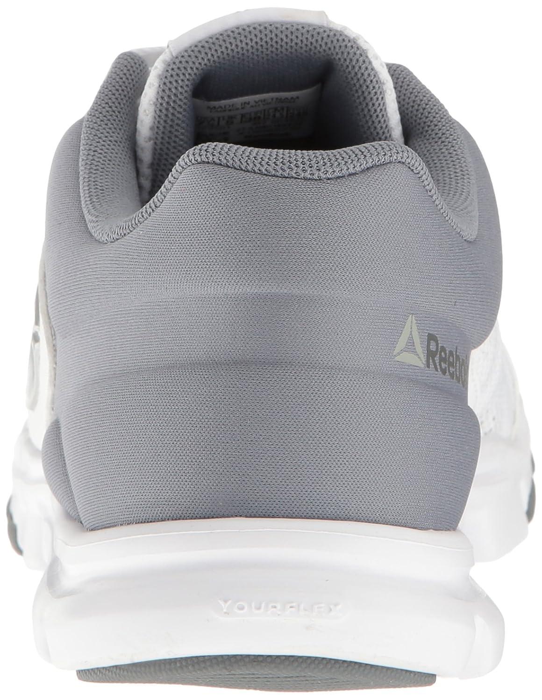 17b3511262ead Zapatillas de entrenamiento Reebok para mujer Yourflex Trainette 9.0 MT  Cross-Trainer Blanco   polvo de asteroide   plata Met   gris