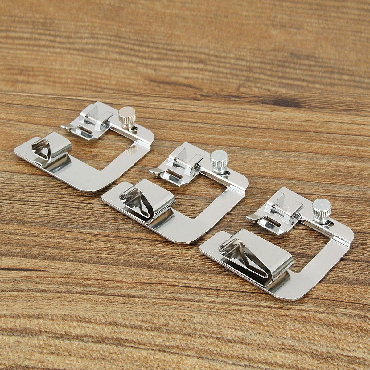 king do way 3 Pcs Pieds-de-Biche Multifonctionnel pour Machine /à Coudre Couture Accessoires Remplacements 12//18//25mm