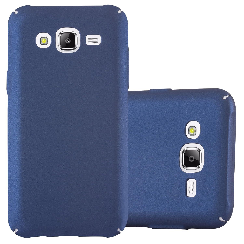Cadorabo Funda para Samsung Galaxy J5 2015 en Metal Azul - Cubierta Protección de Plástico Duro Super Delgada e Inflexible con Antichoque - Case Cover ...