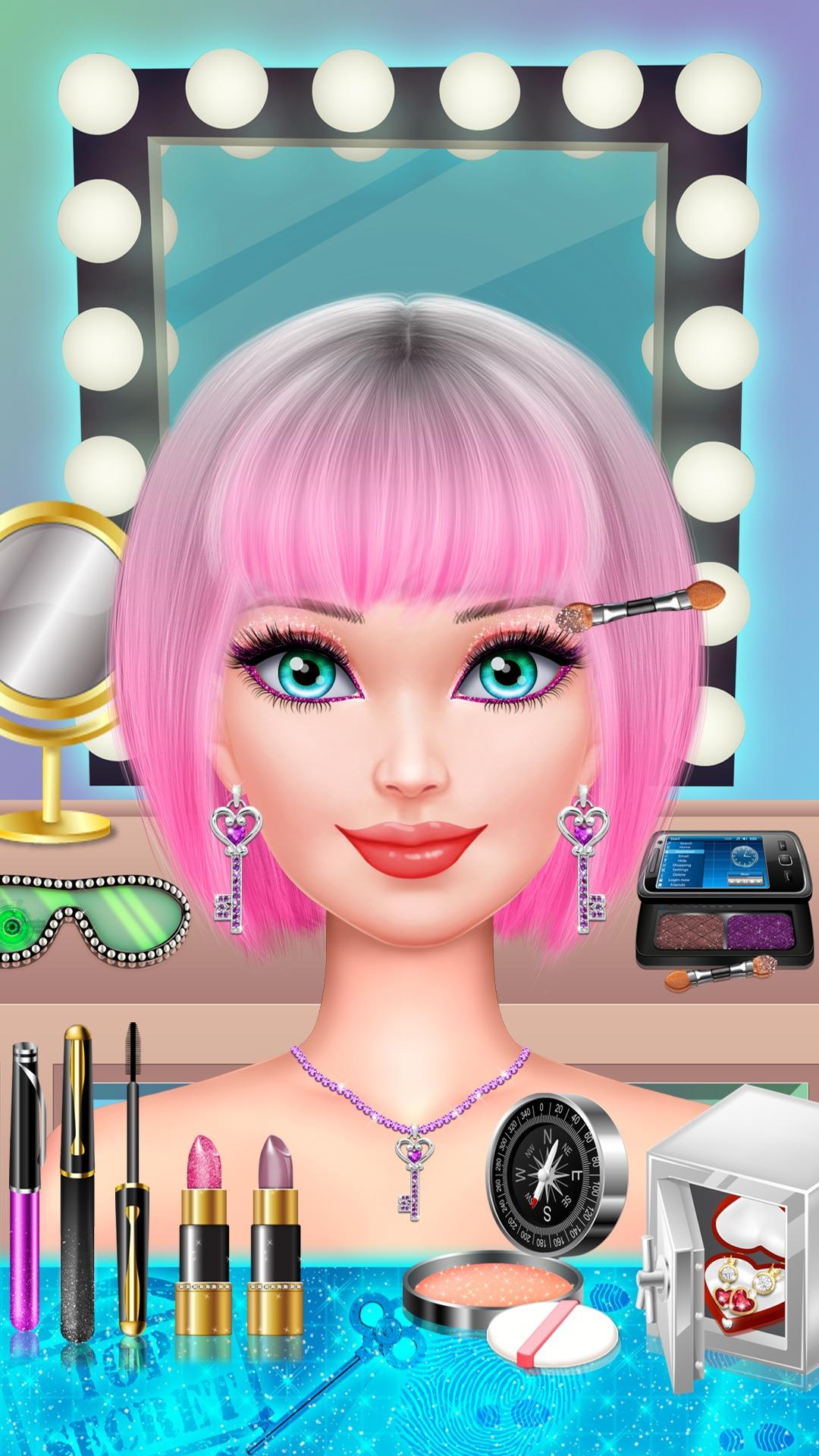 Surprising Amazon Com Spy Girl Salon Spa Makeup And Dress Up Super Short Hairstyles Gunalazisus