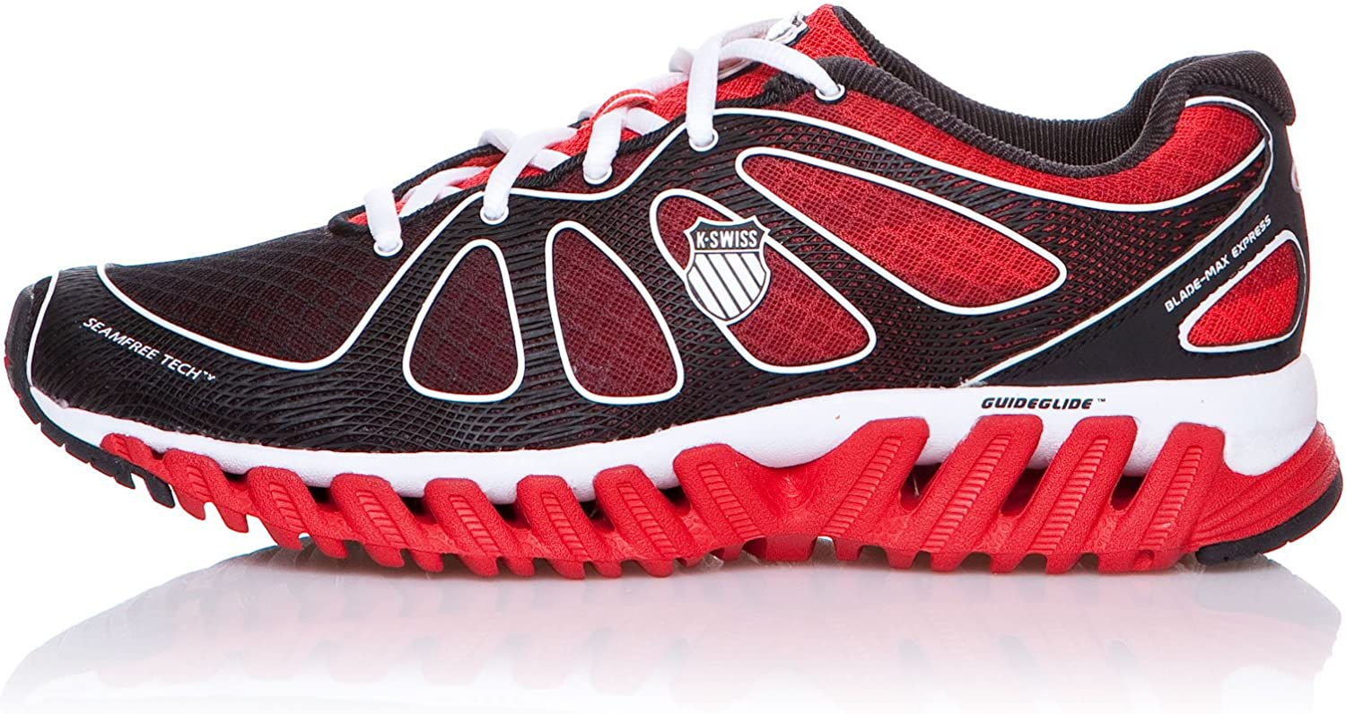 K-Swiss Zapatillas Running Blade-MAX Express Fiery Rojo/Negro EU 42 (UK 8): Amazon.es: Zapatos y complementos