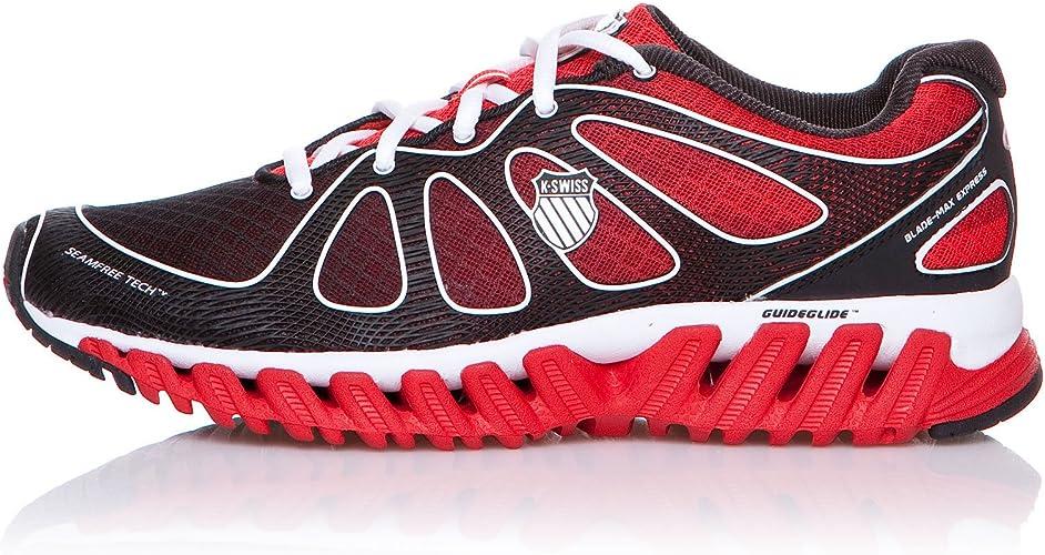 K-Swiss Zapatillas Running Blade-MAX Express Fiery Rojo/Negro EU 42 (UK 8): Amazon.es: Zapatos y complementos
