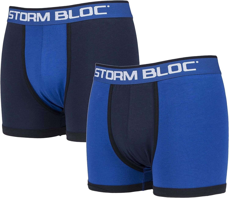 Storm Bloc 2 Paia Uomo Cotone Colorati Fantasia Boxer con Disegni