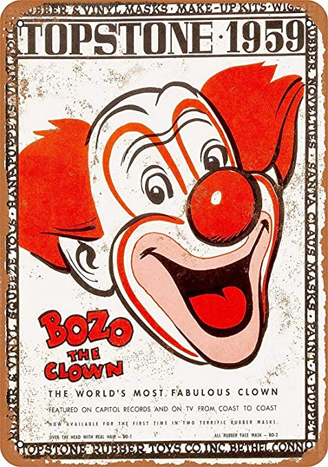 Shunry Bozo The Clown Placa Cartel Vintage Estaño Signo ...