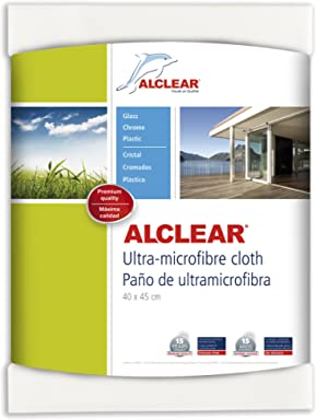 ALCLEAR 950001US Ultra-Microfiber Cleaning Cloth for Windows and smooth surfaces, white, size