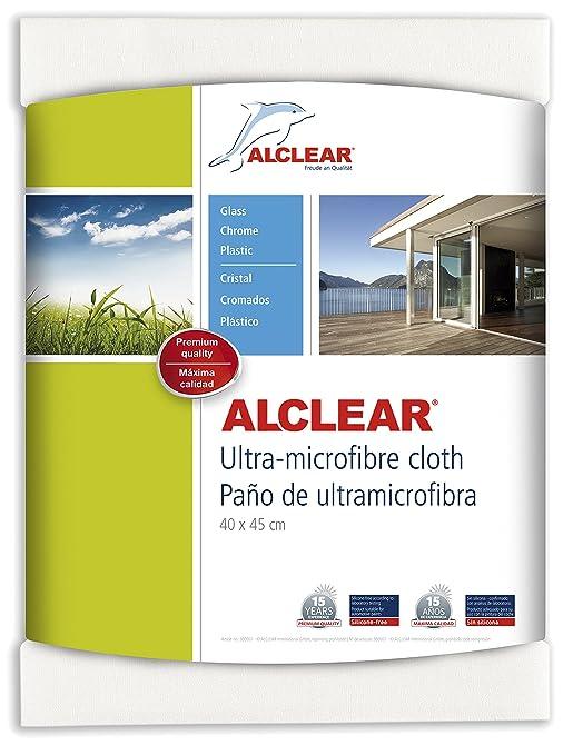 ALCLEAR 950002 Gamuza para ventanas de microfibra - para limpiar el coche, el hogar,