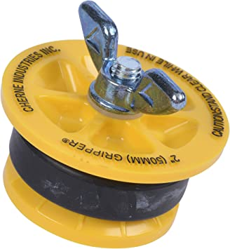 Cherne 270229 End-Of-Pipe Gripper Mechanical Test Plug, 2
