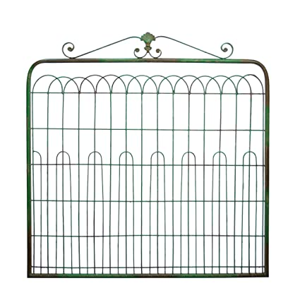 Large Country Inspired Metal Gate Sage Green Wall Decor
