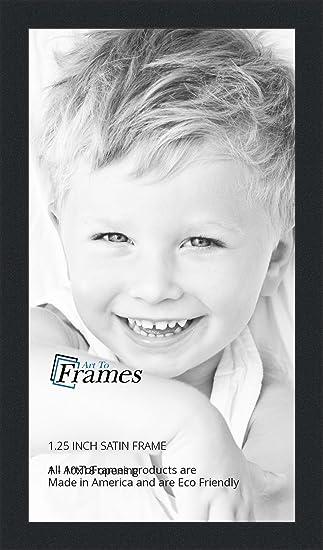 Amazon.com - ArtToFrames 10x18 inch Satin Black Picture Frame ...