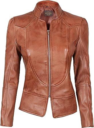 Women/'s 100/% Genuine Leather Coat  Women/'s Lambskin Leather Jacket Handmade Jacket Beige Soft Leather Coat with Leather Belt