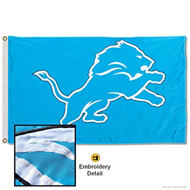 WinCraft Detroit Lions Embroidered Nylon Flag