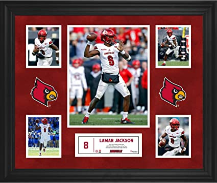 abd517942 Lamar Jackson Louisville Cardinals Framed 23   x 27   5-Photo Collage