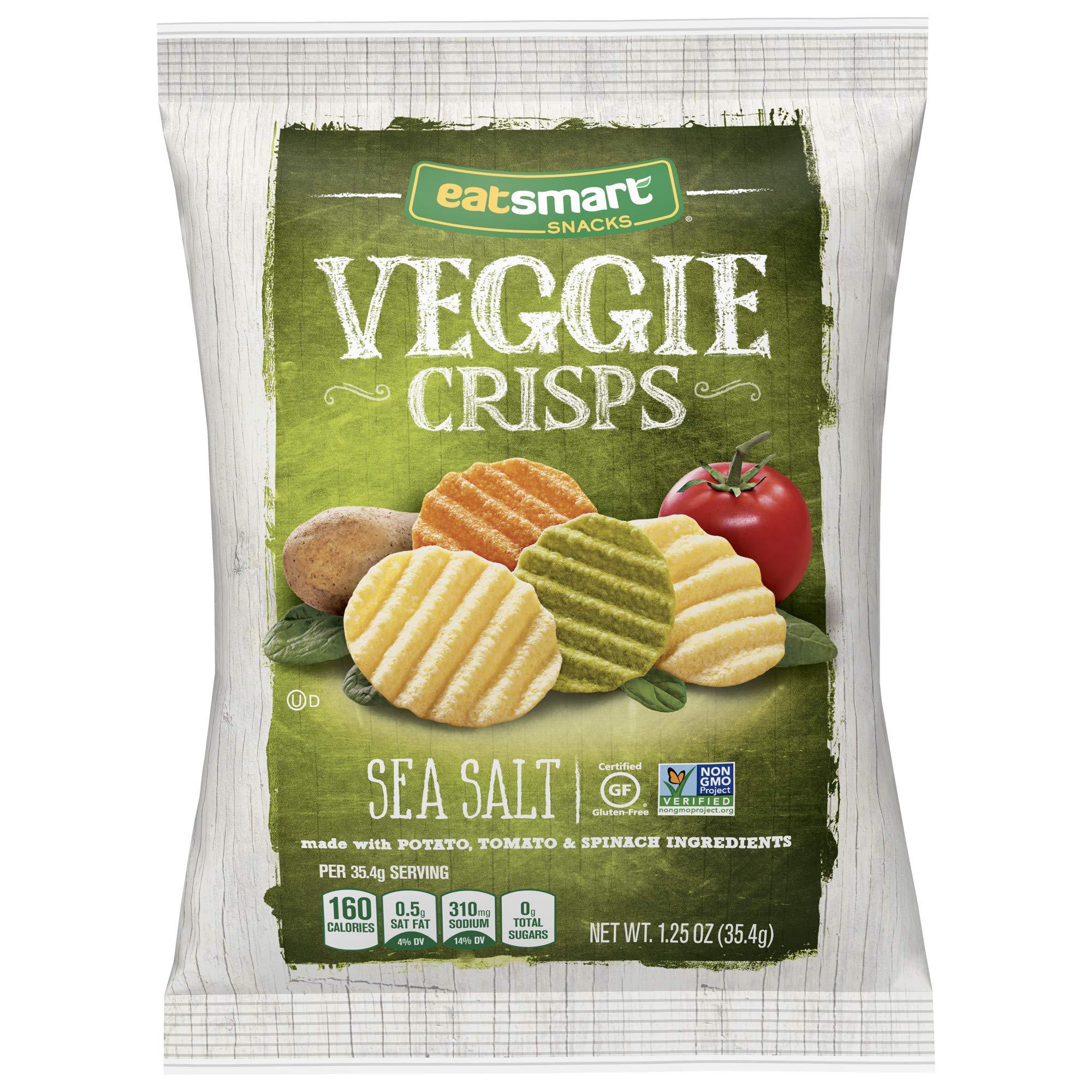 Eatsmart Snacks Veggie Crisps, Sea Salt, 1.25 Ounce (Pack of 8) by Eatsmart Snacks