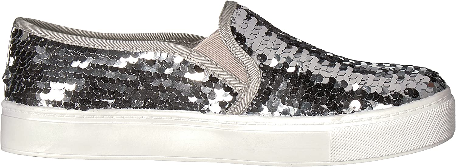 Dirty Laundry by Chinese Laundry Women's Josephine Sneaker Silver Sequins
