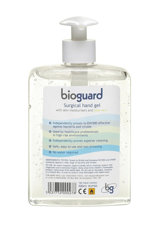 Bioguard Surgical Hand Gel Pump Dispenser 500ml St John Ambulance Supplies BGP500