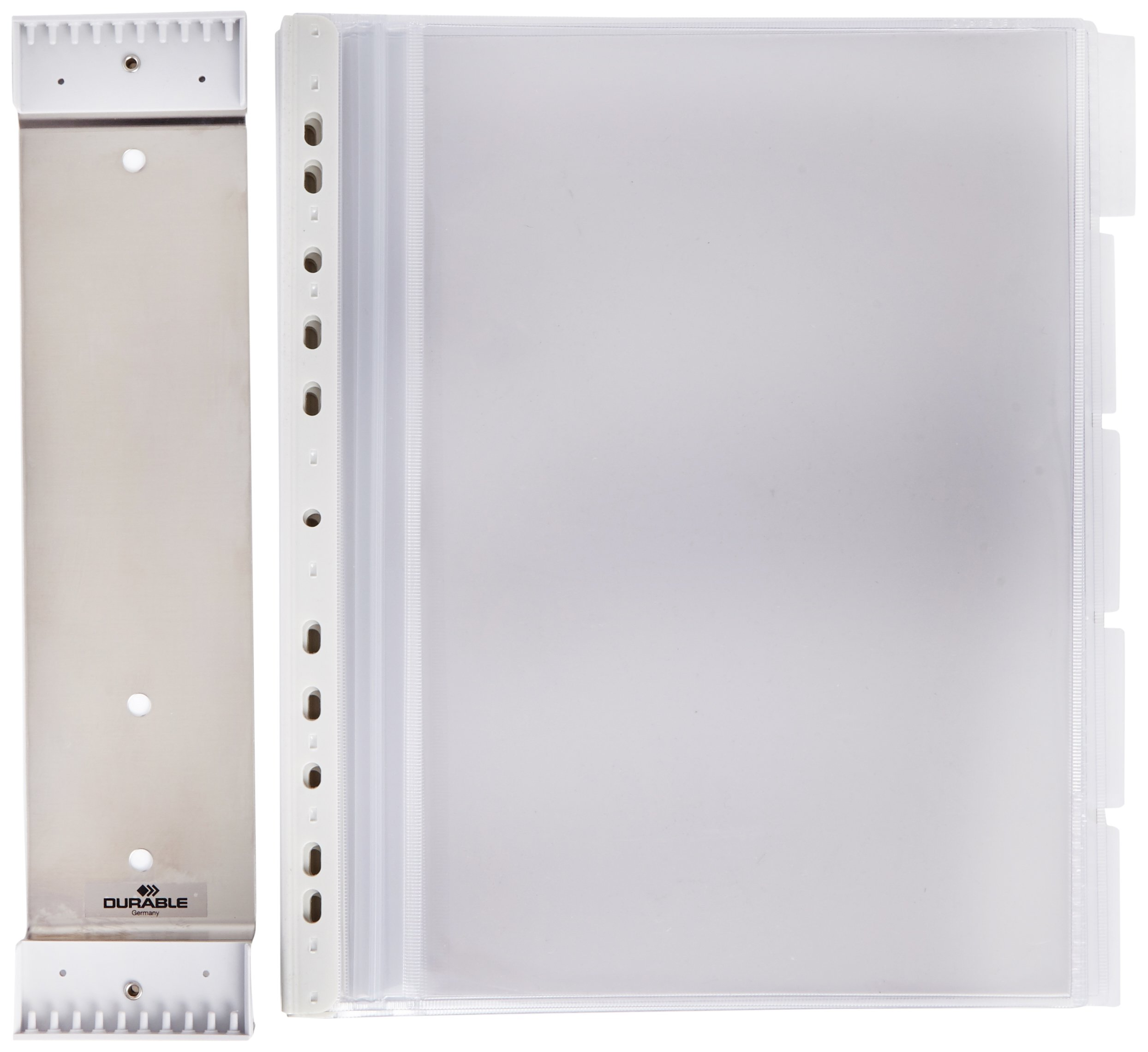 Durable Function Wall Mount Stainless 584300 Display Sheet System / 10 Stainless Steel with 10 Plates, Pack of 1, Metallic Silver