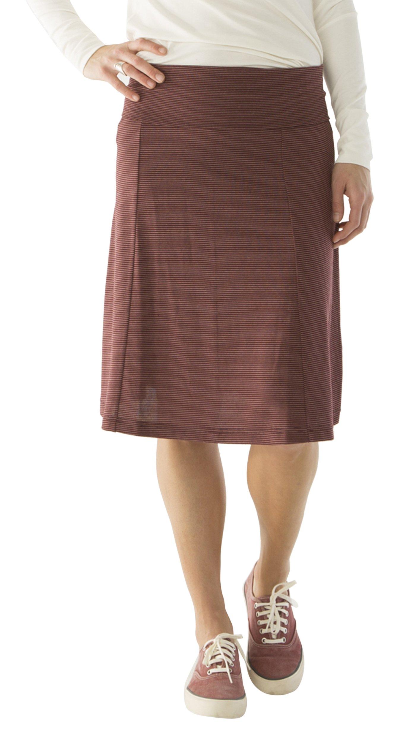 CARVE Designs Women's Saxon Skirt, Medium, Mulberry Southwest Stripe