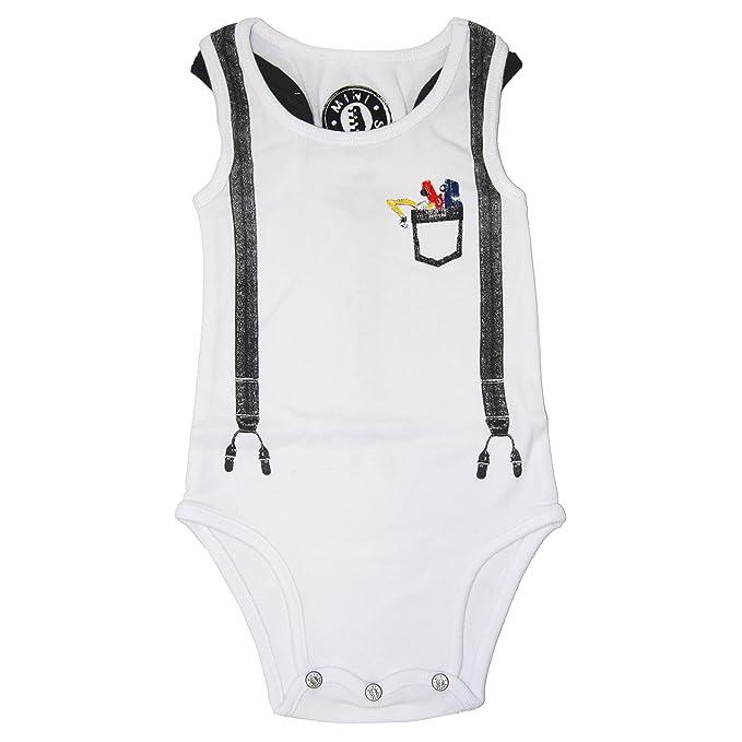 7ba7b0216 Amazon.com  Mini Shatsu Baby Boys  Suspenders Toy Cars Tank Bodysuit ...