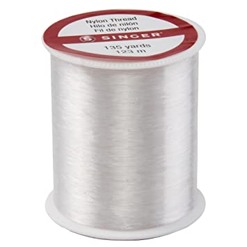 SINGER 260 Clear Invisible Nylon Thread, 135-Yard