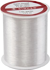SINGER Clear Invisible Nylon Sewing Thread, 135-Yard