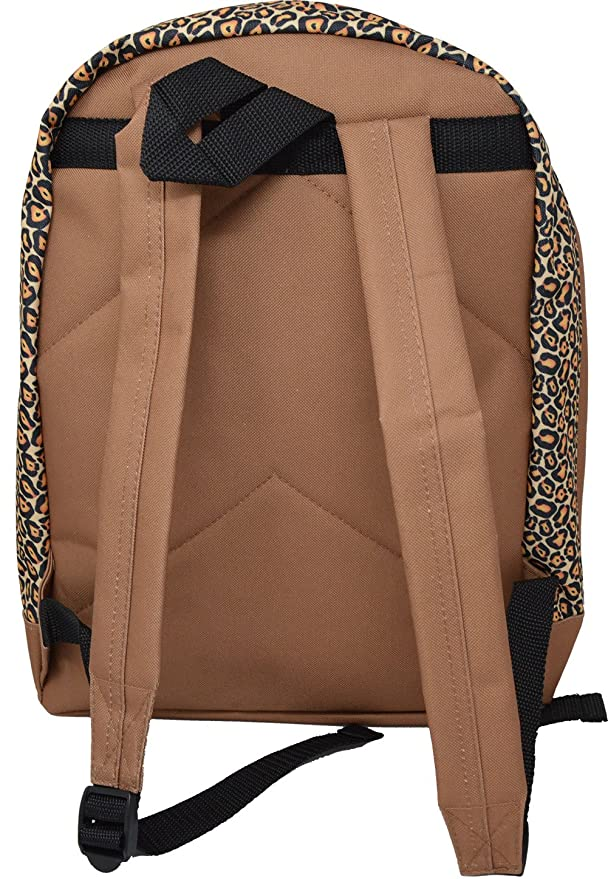 d38b21c4da Girls - Leopard Print Backpack School Bag  Amazon.co.uk  Luggage