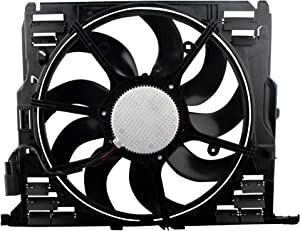 BOXI Radiator Cooling Fan Assembly Compatible with Select 2009 2010 2011 2012 2013 2014 2015 BMW F01 F02 F10 F11 F12 F13 528i 530i 535i 640i 740i 740Li (l6 3.0L) Replaces # 17428509741