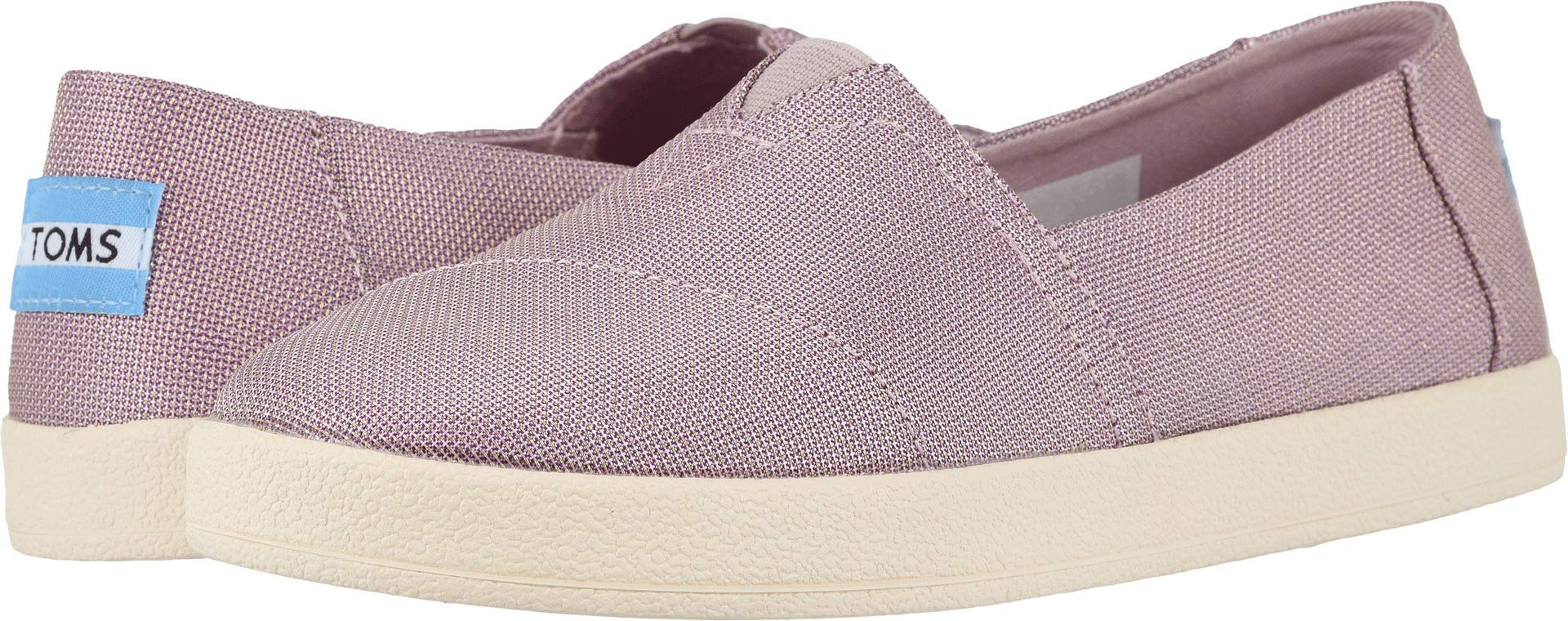 a2a15af3e30 Galleon - TOMS Women s Avalon Burnished Lilac Shiny Woven 5.5 B US