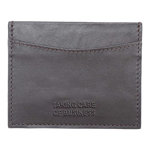Plum And Punch Leather Business Card Holder Taking Care Of Business