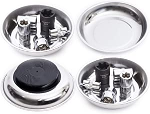 "ehomeA2Z Set Of 4 Magnetic Trays 4"" Inch, Ideal At Garage, Home, Construction For Wrenches, Bolts, Nuts, Small Parts (4""Inch Magnetic Trays Set of 4)"