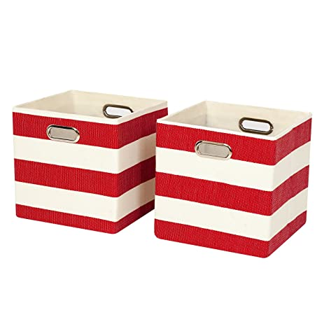 Posprica Collapsible Cube Organizer Bins,Storage Cube Boxes Basket  Containers Drawers For Nurseries,Offices