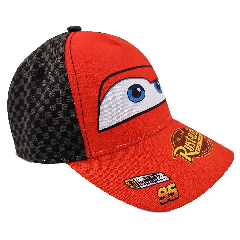 22ffb9cce6b1 ... Age Disney Little Boys Cars Lightning McQueen Character Cotton Baseball  Cap, Red/Black, ...