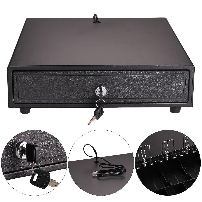 MultiWare Cash Register Drawer Heavy Duty POS Receipt Printer Cash Register 4 Bills&5 Coins Cash Tray oem